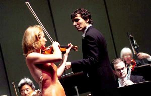 9/29/2007 Elizabeth performing Mozart on stage in San Bernardino, Calif. with Maestro Carlo Ponti, Jr. looking on.
