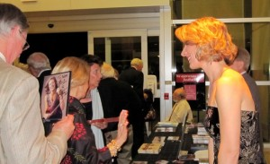 Greeting fans from the Artist Series of Sarasota recitals in January, 2010.