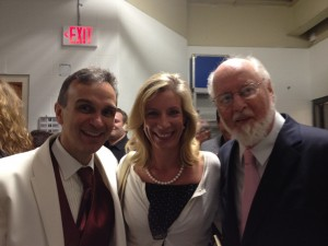 With John Williams and Gil Shaham at Tanglewood.