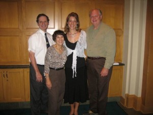 8/2007 Farewell Party at the Encore School for Strings in Hudson, Ohio. David Cerone, Linda Cerone, Founders and Directors, and violin teacher Robert Lipsett.
