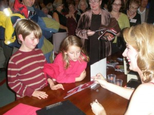 11/4/2007 Signing CD's for young musicians after a performance with the Marin Symphony, San Francisco, CA.