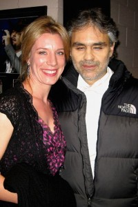 12/1/07 Meeting Andrea Bocelli at the MGM Grand following his concert in Las Vegas.