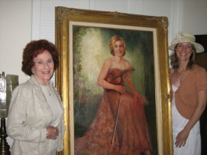 Artist Frances O'Farrell painted this portrait of Elizabeth Pitcairn as a donation to the New West Symphony Orchestra