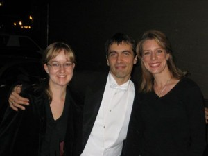 2/11/06 With friends Maestro Carlo Ponti Jr. & wife and professional violinist Andrea Ponti, backstage after Elizabeth's solo debut with the San Bernardino Symphony