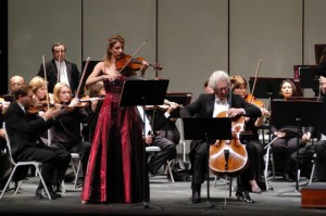 2/11/2005 With Ronald Leonard, distinguished cellist performing the Brahms Double Concerto with the San Bernardino Symphony conducted by Carlo Ponti, Jr