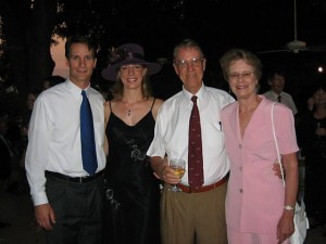 9/24/2007 Elizabeth's immediate family, younger brother David, father Laren, and mother Mary Eleanor, cellist, at a cousin's wedding in Austin, TX.