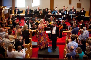 Performing Mendelssohn Concerto with the Toccata-Tahoe Symphony at Lake Tahoe conducted by James Rawie. July, 2009