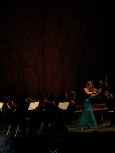 Performing Vivaldi's Four Season's with the Marin Symphony, November 2009.