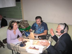 A fun radio interview live from Palm Springs with Bill Feingold, right, the host of the Bill Feingold Show. April, 2010