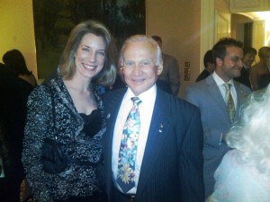Meeting a great American hero, Buzz Aldrin, in Los Angeles on April 12 a the Canadian Consulate.
