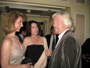 Meeting Sir Richard Branson in LA at a charity event for Save the Children.