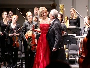 Performing with Anshel Brusilow, the Khachaturian Concerto with the USC Thornton Symphony, November 13, 2003.